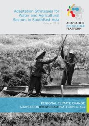 Adaptation Strategies for Water and Agricultural Sectors in ...
