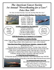 Poker Run 2009 - ACS Interactive Community Pages