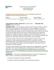 Diagnosis and management of oral allergy syndrome ... - AInotes