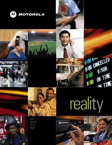 2001 Summary Annual Report - Motorola Solutions