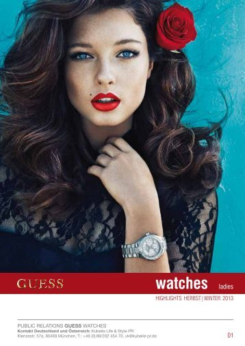Pressemappe GUESS jewellery HW 13