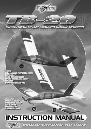 tb–20 instruction manual rtf model - CML Distribution