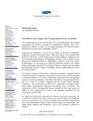 Eric Zalud Elected President of Transportation Lawyers ... - Benesch