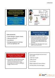 REDAKSI Peraturan Kepala LIPI No. 06/E/ 2009
