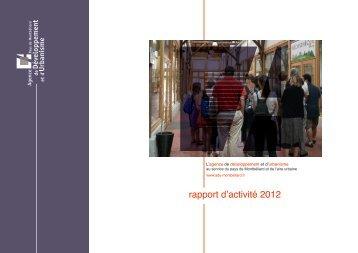 rapport d'activité 2012 - ADU