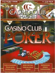 CASINO-CLUB Ein - CasinoClub Magazin