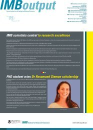 IMB scientists central to research excellence PhD student wins Dr ...