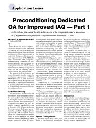 Preconditioning Dedicated OA for Improved IAQ — Part 1 - DOAS