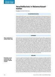Verschleißschutz in Walzenschüssel- mühlen - Gebr. Pfeiffer SE