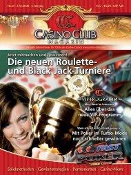 Die neuen Roulette- und Black Jack-Turniere - CasinoClub Magazin