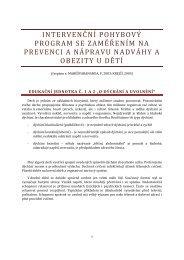 Intervenční pohybový program se zaměřením na prevenci a nápravu ...