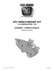 owners manual cc25-2320 - winch mounting kit kaw - Schuurman B.V.