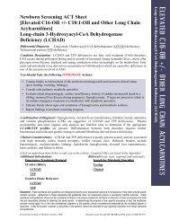 LCHAD - Long - Chain 3-OH acyl – CoA dehydrogenase ... - DHHR