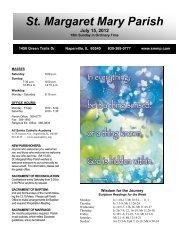 July 15, 2012 - Saint Margaret Mary Parish