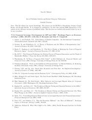 Toni M. Whited List of Articles Citing my Publications Outside ...