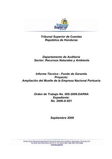 Tribunal Superior de Cuentas República de Honduras ...