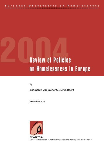 Review of Policies on Homelessness in Europe - noticiaspsh.org