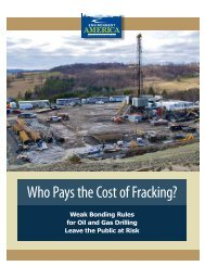Who Pays the Costs of Fracking? - Environment America Research ...
