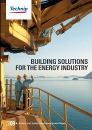 2009 Activity and Sustainable Development Report - Technip