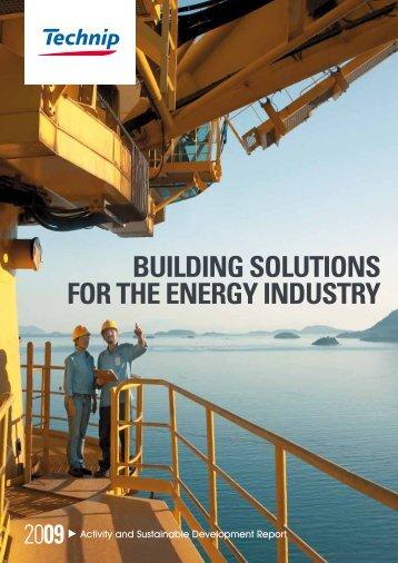2009 Activity and Sustainable Development Report - Technip