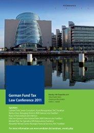 German Fund Tax Law Conference 2010 - WM Seminare