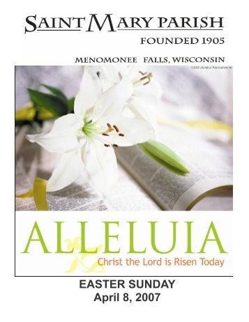 EASTER SUNDAY April 8, 2007 - St. Mary Parish