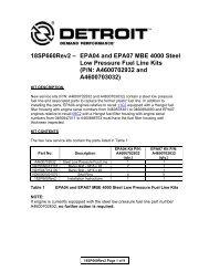 18SP653* – EPA04 and EPA98 MBE 4000 High Pressure
