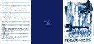 Programación Fiestas del Agua 2013. - Ejea Digital