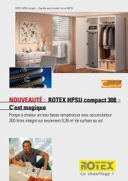NOUVEAUTÉ : ROTEX HPSU compact 308 - C'est magique - Av2l.fr