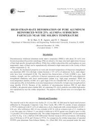high-strain-rate deformation of pure aluminum reinforced with 25 ...