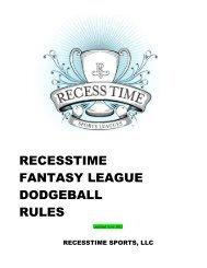recesstime dodgeball draft league rules 2012 - Recesstimesports.com