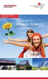 Sonnenstrom – Energie für die Zukunft - Windsheimer Photovoltaik