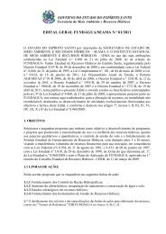 edital geral fundágua/seama n.º 01/2011 - Instituto Estadual de Meio ...