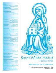 October 12, 2008 - St. Mary Parish