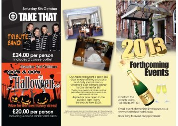 2013 Events Brochure - Chesterfield Hotel