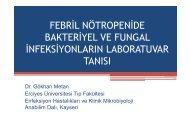 febril nötropenide bakteriyel ve fungal infeksiyonların laboratuvar ...