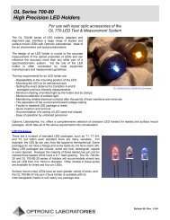 OL Series 700-80 High Precision LED Holders