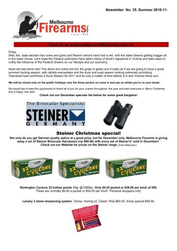 Steiner Christmas special! - Melbourne Firearms Centre