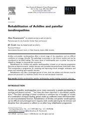 5 Rehabilitation of Achilles and patellar tendinopathies