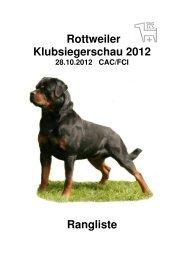 Rottweiler Klubsiegerschau 2012 Rangliste - Schweizerischer ...