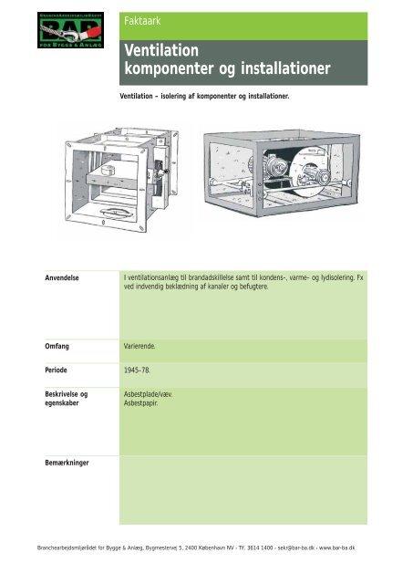 Ventilation komponenter og installationer - BAR Bygge & Anlæg