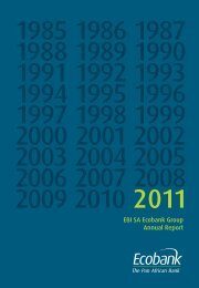 France annual report 2011 - Ecobank