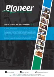 2012 Annual Financial Report - Pioneer Resources Limited