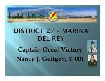 Captain Oceal Victory Nancy J. Geitgey, Y-001