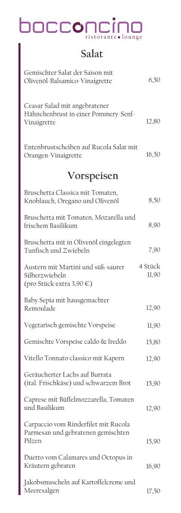 Salat Vorspeisen - Bocconcino