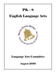 PK – 8 English Language Arts - Wausau School District