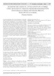 Scoliose de l'adulte : Evaluation de la HRQL chez 30 patients traités ...
