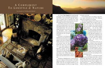 A COMPLIMENT TO LIFESTYLE & NATURE - Views Magazine