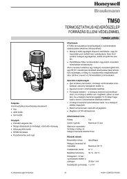 TM50 termosztatikus keverőszelep forrázás elleni védelemmel