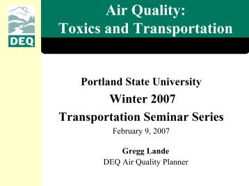 Air Quality - Center for Transportation Studies - Portland State ...
